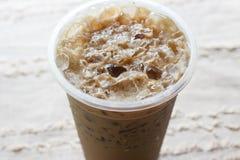 Kallt med is kaffe arkivfoton