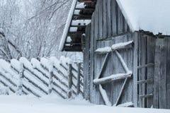 Kallt väder i Estland Arkivfoton