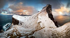 Kallur winter panorama royalty free stock photography