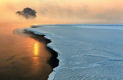 Kalm de winterlandschap Stock Afbeeldingen