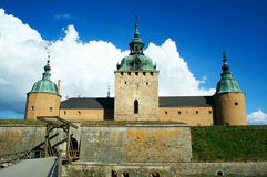 Kalmar castle 2. Kalmar castle, southern sweden. built  in 12th century and improved in 16th century, it played a significant role in history of sweden, denmark Royalty Free Stock Photography