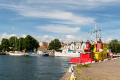 Kalmar harbor, Sweden Stock Images