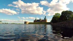 Kalmar historic castle time lapse video stock video footage