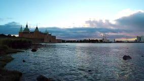 Kalmar historic castle time lapse stock video