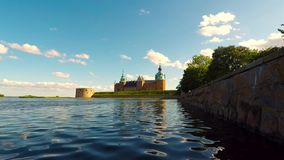 Kalmar historic castle time. Video of Kalmar historic castle in Sweden stock footage