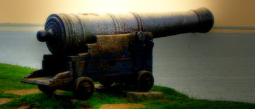 Kalmar medieval cannon Stock Image