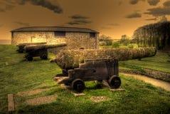 Kalmar medieval cannon Stock Photos