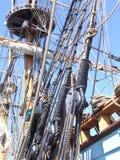 The Kalmar Nickel rigging. A replica of an 17 century dutch merchant ship Stock Photo