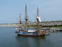 Kalmar Nyckel. Delaware's Tall ship based at the Lewes Ferry port to Cape May, New Jersey, USA Royalty Free Stock Image
