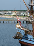 Kalmar Nyckel. Delaware's Tall ship based at the Lewes Ferry port to Cape May, New Jersey, USA Royalty Free Stock Images