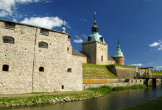 Kalmar's castle fortifications Stock Image
