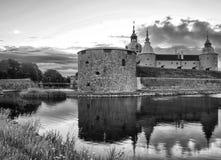 Kalmar-Schloss bw Stockfotografie