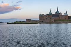 Kalmar slott på gryning Royaltyfri Fotografi