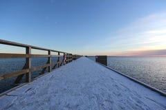 Kalmar sweden bridge. In winter Stock Photo