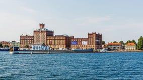 Kalmar uit de boot wordt bekeken die royalty-vrije stock afbeelding