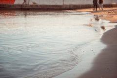 Kalme Avondbranding in de Zwarte Zee Stock Afbeeldingen