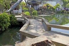 Kalme Aziatische tuin royalty-vrije stock afbeeldingen