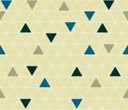 Kalme geometrische achtergrond met rond gemaakte driehoeken Naadloze vector Stock Afbeeldingen
