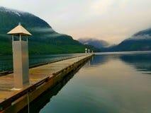 Kalme haven Middag in Oceaandalingen, BC royalty-vrije stock afbeeldingen
