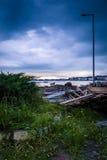Kalme Haven vóór het Onweer stock fotografie