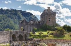 Kalme hemel over kasteel royalty-vrije stock foto