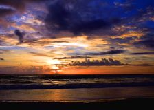 Kalme Overzees, Briljante Kleuren Royalty-vrije Stock Afbeelding