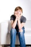 Kalme redhead tiener Stock Afbeelding