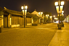 Kalme straat in Shanghai, China stock afbeelding