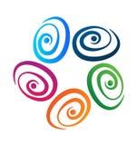 Kalmeren, die zen stenen kleurrijke groep kalmeren stock illustratie