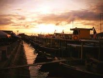 Kalmerende zonsondergang Stock Afbeelding