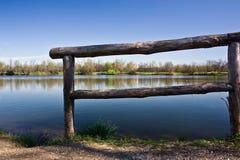 Kalmte op het meer Stock Foto