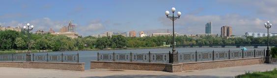 Kalmus embankment in Donetsk Stock Photos