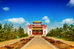 Kalmykia. Elista. Central Kalmyk Buddhist monastery Stock Photos