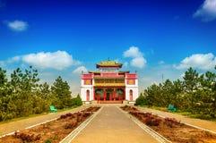 Kalmykia. Elista. Central Kalmyk Buddhist monastery Stock Photos