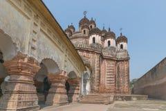 Kalna,西孟加拉邦,印度Lalji寺庙  免版税库存照片