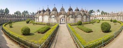 Kalna, Burdwan 108个希瓦寺庙  免版税库存图片