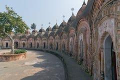 Kalna 108个希瓦寺庙, Burdwan,西孟加拉邦 图库摄影
