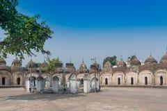 Kalna 108个希瓦寺庙, Burdwan,西孟加拉邦 免版税库存照片