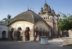 Kalna, Bengala Occidental, la India: 27 de enero de 2018: Templo de Lalji de Kalna Es uno de los templos más viejos de señor Kris imágenes de archivo libres de regalías