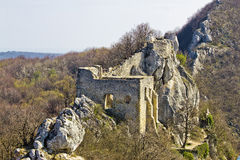 Kalnik mountain fortress on cliff. Croatia Royalty Free Stock Photo