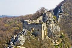 Kalnik mountain fortress on cliff Royalty Free Stock Photo