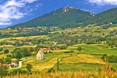 Kalnik mountain green hills scenery Stock Photography