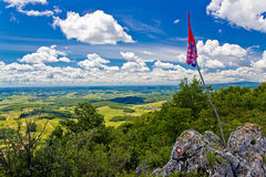 Kalnik mountain view from top Royalty Free Stock Photography