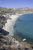 Kalo Livadi beach in Mykonos island Royalty Free Stock Images