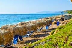 Kalo Nero plaża obraz stock