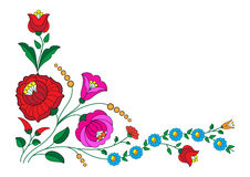 Kalocsa corner. Beautiful traditional embroidery, from Hungary from Kalocsa Royalty Free Stock Image