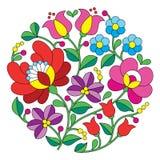 Kalocsai刺绣-匈牙利圆的花卉民间样式 皇族释放例证