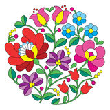 Kalocsai embroidery - Hungarian round floral folk pattern Royalty Free Stock Images