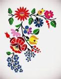 Kalocsai pattern. A beautiful hungarian Kalocsai floral pattern Royalty Free Stock Image