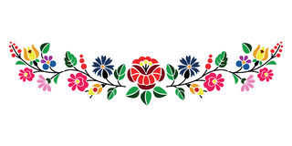 Kalocsai pattern. A beautiful hungarian Kalocsai floral pattern